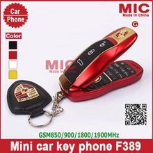 2014 MP3 / MP4 две сим-карты четырехъядерный полосы флип роскошный небольшой мини спорт здорово суперкар ключи от машины сотовый мобильный телефон мобильный телефон F389 P5