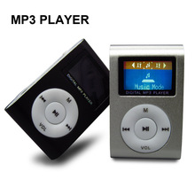 New Portable MP3 Music Player LCD Screen Mini Clip Multicolor MP3 Player With Micro TF/SD Card Slot Electronic Products(China (Mainland))