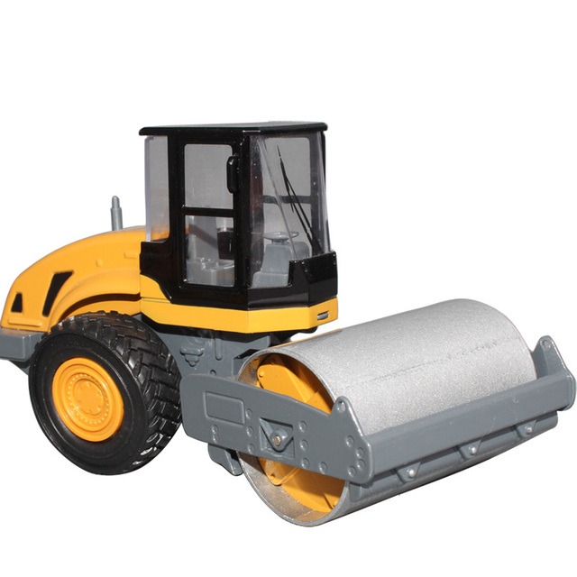 free shipping Huayi single wheel road roller full alloy engineering car toy car alloy car toy model car