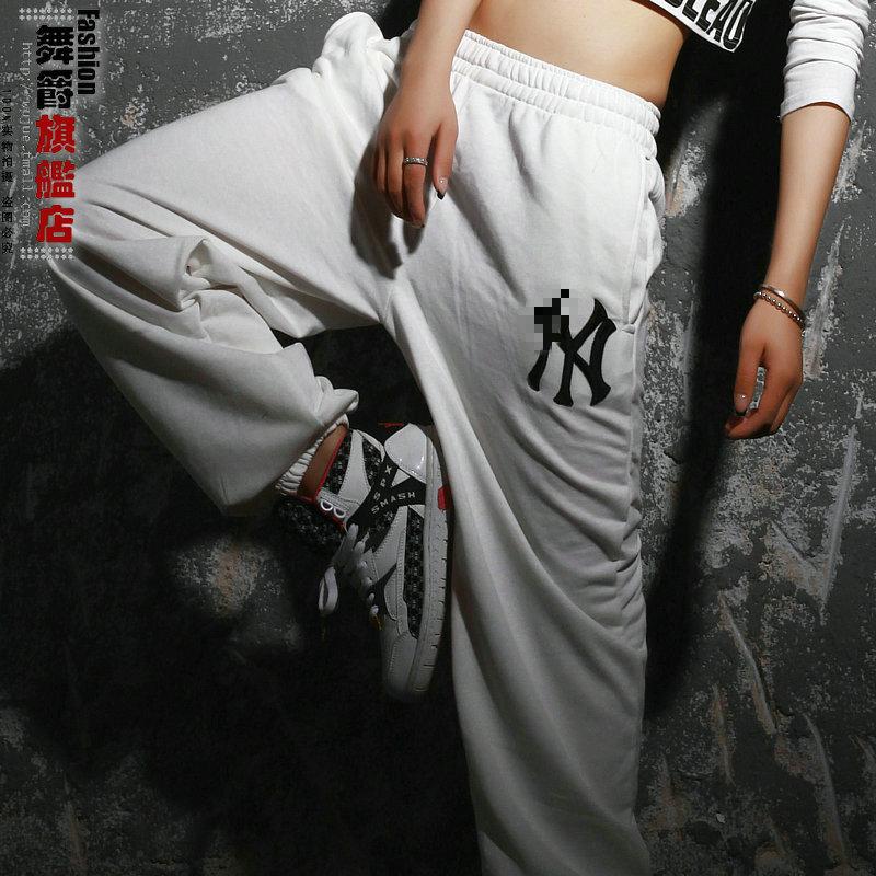 2014 New fashion Harem Hip Hop jogging pants joggers loose Black Sweatpants Costumes female Letter sports Dance - Hiphop Dance's Club store