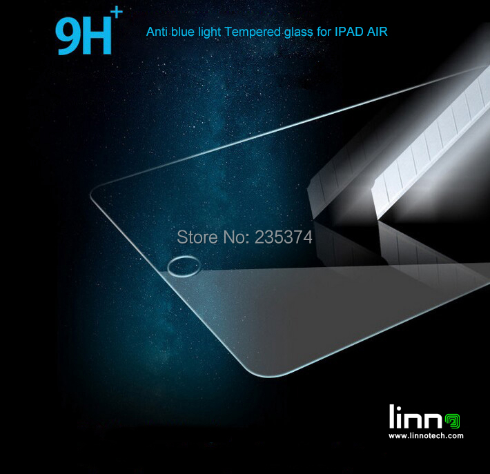 For IPAD AIR 0.3mm 2.5D protective film Eyes Care Anti UV ray,Anti blue light Tempered Glass Screen Protector for Apple IPAD AIR(China (Mainland))