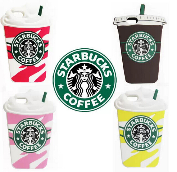1 iphone 5 5s New Starbucks coffee cup pink soft silicone case retail box - Haosheng Technology store