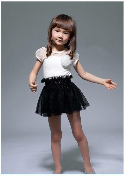 Robe fille noir et blanc