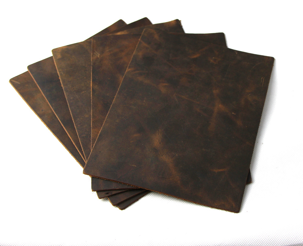 Wax horse leather thick genuine leather raw material diy leather 2011005(China (Mainland))