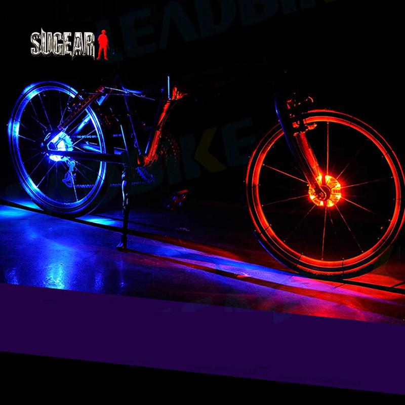 Leadbike Cycling Front/Rear Bicycle Hubs Lights Decoration Warning LED Wheel Lamp Waterproof Signal Tire Hubs Bike Accessories(China (Mainland))