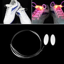 LED Sport Shoe Laces Flash Light Glow Stick Strap Shoelaces Disco Party Club Hot Selling(China (Mainland))