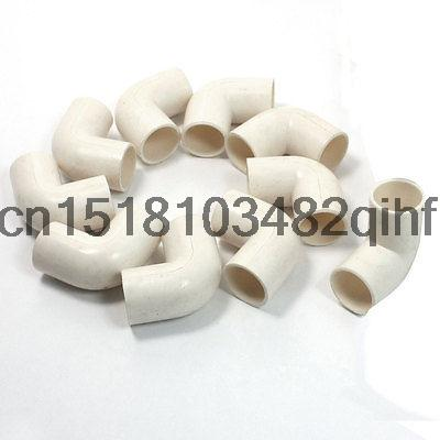 10 Pcs 16mm Inner DiaMmeter 90 Degree Elbow PVC Pipe Connectors White(China (Mainland))
