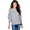 New arrival 2016 autumn Bat sleeve cashmere sweater women casual oversized knitted pullover pull femme manche