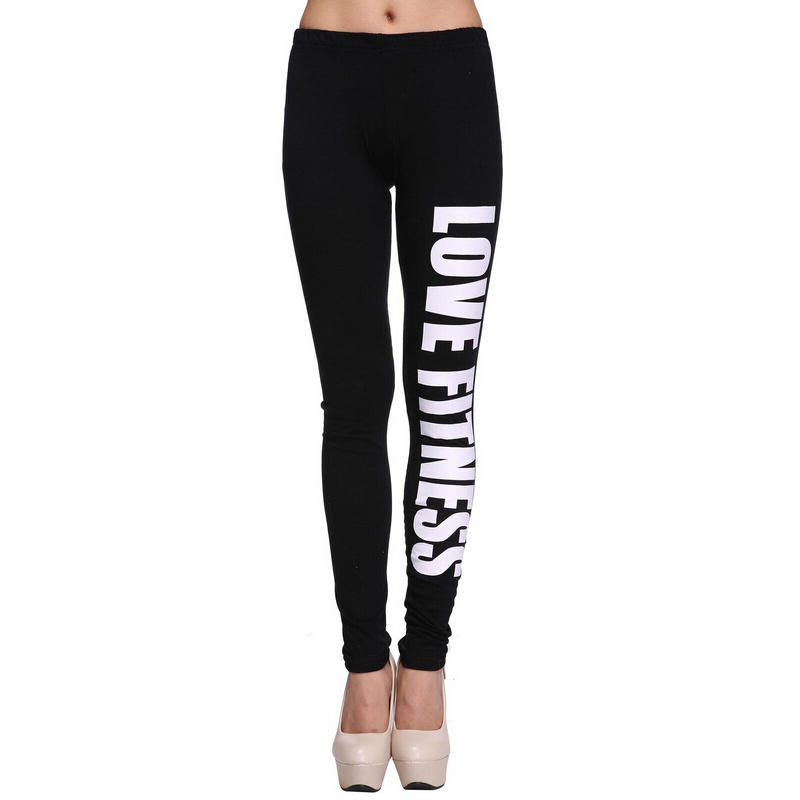Low waist 2015 fashion elasticity women sport running pencil pants tight, lady black sexy gym breathable fitness leggings print(China (Mainland))