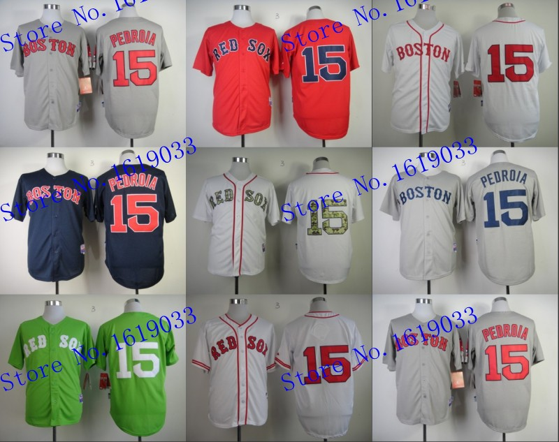 Hot Sale Youth Outlet Cheap Boston Red Sox #15 Dustin Pedroia white,gray,navy blue Jersey kids sale,Fast Free Shipping(China (Mainland))