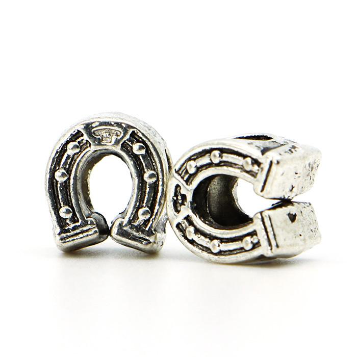 1piece European Big Hole Alloy Bead Fashion Silver Plated Horse Hoof Bead Fits Charm Pandora Bracelets Necklaces Pendants(China (Mainland))