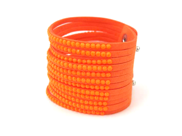 New Unisex Fluorescent colors Acrylic Multilayer Leather Charm Bracelets Fashion Jewelry For Women Pulsera gift **FB167(China (Mainland))