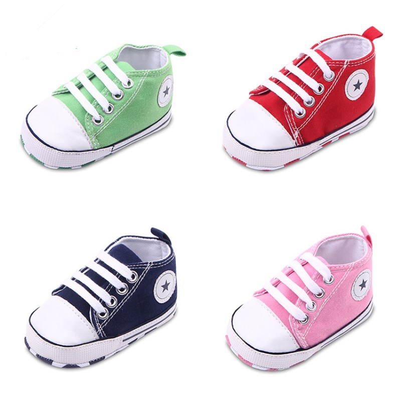 Baby Shoes Girls/boys bebe sneakers Soft Sole Skid-proof Cute little Kids Toddler Shoes First Walkers Fit 0-18 Months(China (Mainland))