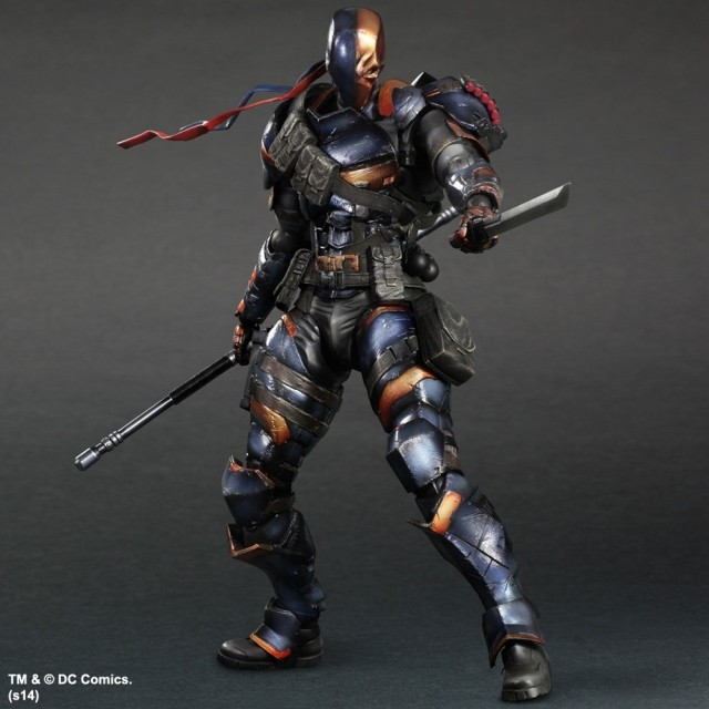 Batman v Superman Dawn of Justice Arkham Knight Deathstroke Kai Doll Terminator PVC 26CM Action Figure Collection Model Kids Toy(China (Mainland))