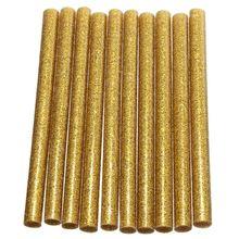 Hot Sale 10Pcs 6 Colors Hot Sale Glitter Hot Melt Glue Sticks For Electric Heating Tool Art Craft Hobbies Approx 0.7x10cm(China (Mainland))