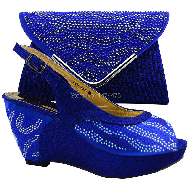 NEW 2016 Italian Design Woman Matching Shoe And Bag Set / Africa Nigeria for Womens Shoes For Wedding Party 1308-L53 size 38-42<br><br>Aliexpress