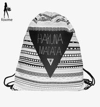 New fashion Practical Geometry 3D printing women & man mochila feminina harajuku Travel drawstring bag High quality backpacks(China (Mainland))