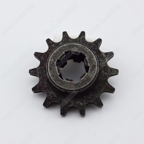 Motorcycle T8F 14Tooth front pinion sprocket 14T of clutch chain rear gear box for 47 49cc mini motocross dirt bike scooter(China (Mainland))