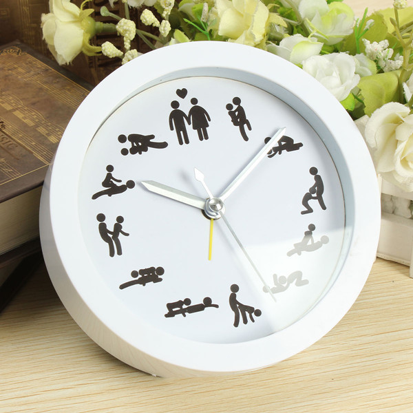 2015 Hot Cultural Arts Creative Novelty Sex Clock Home Decoration Sexy 12 Position Pattern Wall Clocks For Living Room(China (Mainland))