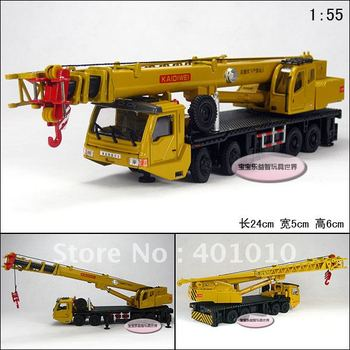 1:55 KAIDIWEI 625011 Heavy duty 8 wheel crane mainest retractable rotation full alloy delicate alloy car model free air mail