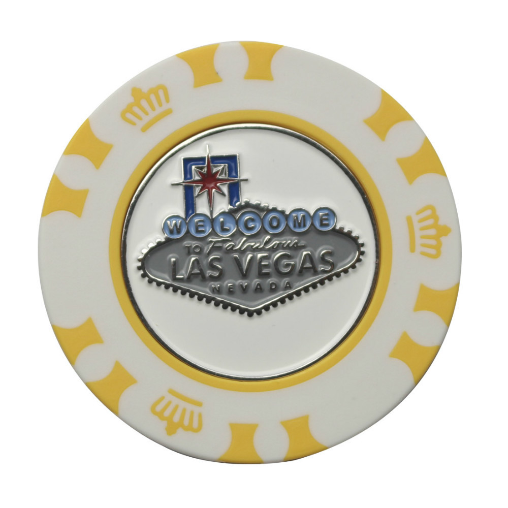5 Las Vegas Magnetic Poker Chip Golf Ball Marker(China (Mainland))