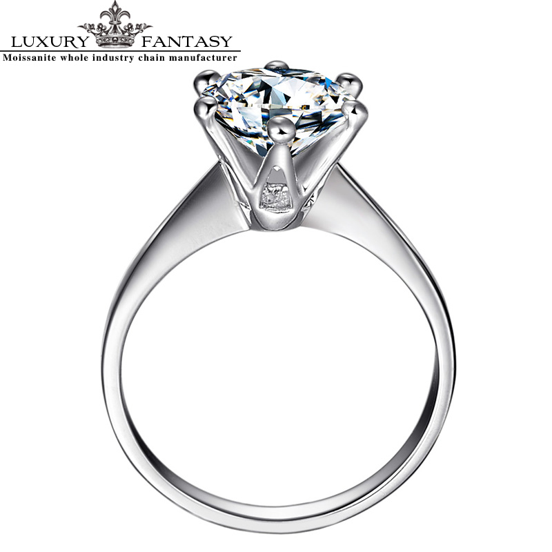 JewellWang Love Crown 1.5CT Certified D to ++F/IF Luxury Fantasy Saline Lake Moissanites Engagement Ring 18K White Gold JW-A0980<br><br>Aliexpress