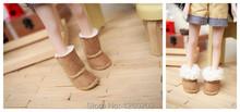 Zapatos preciosos zapatos de muñeca muñeca botas de nieve, cañón largo Flanging nieve botas ( apto para blyth, azone, licca, 1/6 muñeca ) S026(China (Mainland))