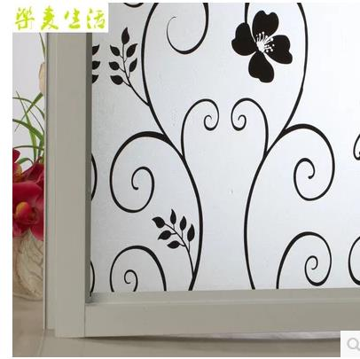 Package mail opaque printing sticker bathroom privacy glass stickers Transparent window stickers Wrought iron flower,-68(China (Mainland))