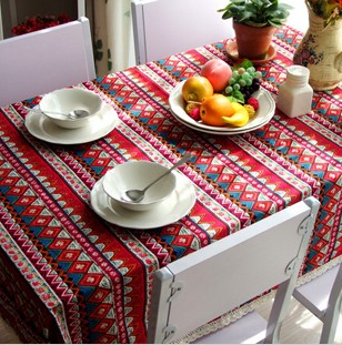 Hot selling wholesale new arrival national trend dining bohemia tablecloth/ table cover 140*180cm /good quality decorative ho(China (Mainland))
