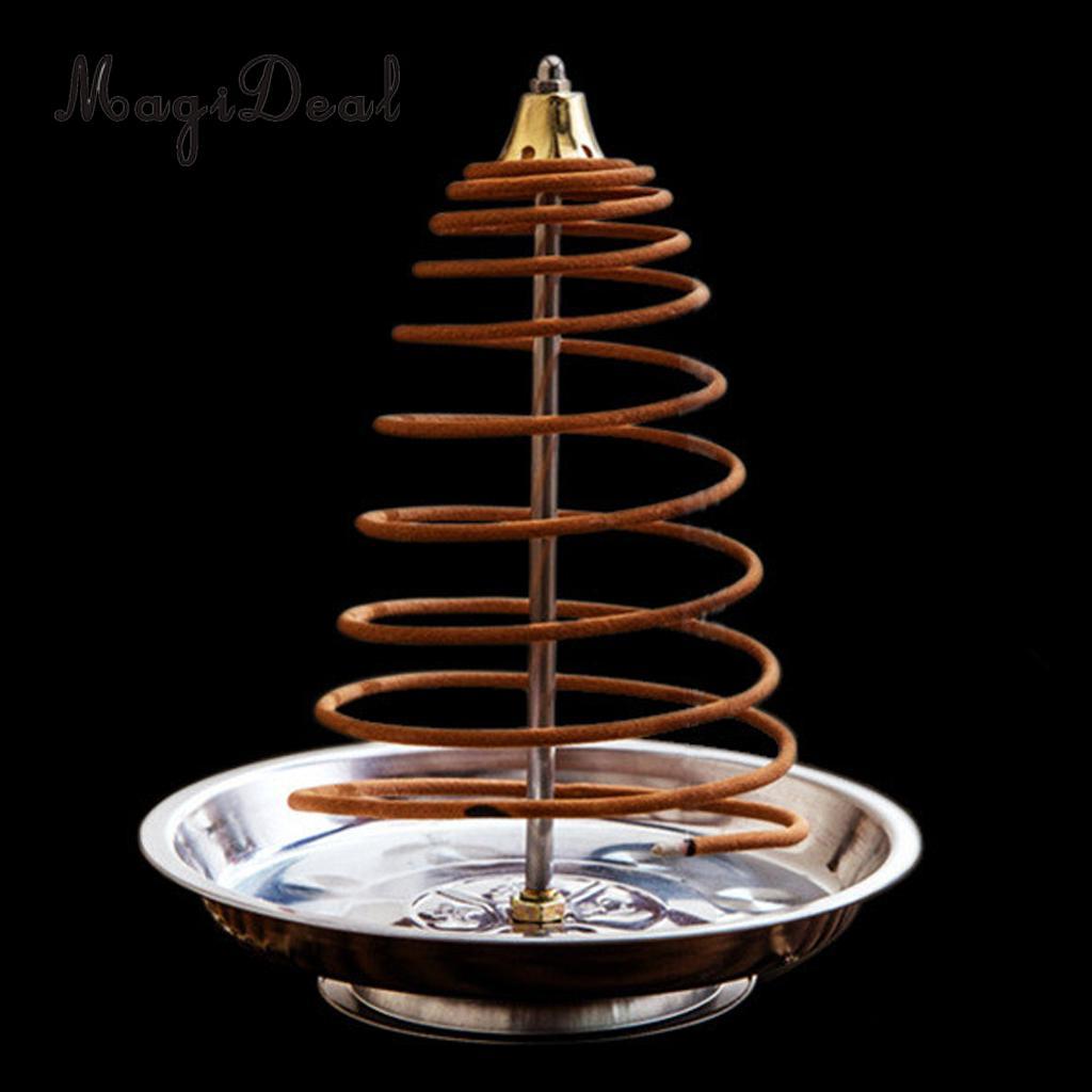 MagiDeal Metal Backflow Incense Burner Creative Home Decor Incense Holder Censer Coils Cones Burner 5 Styles PICK