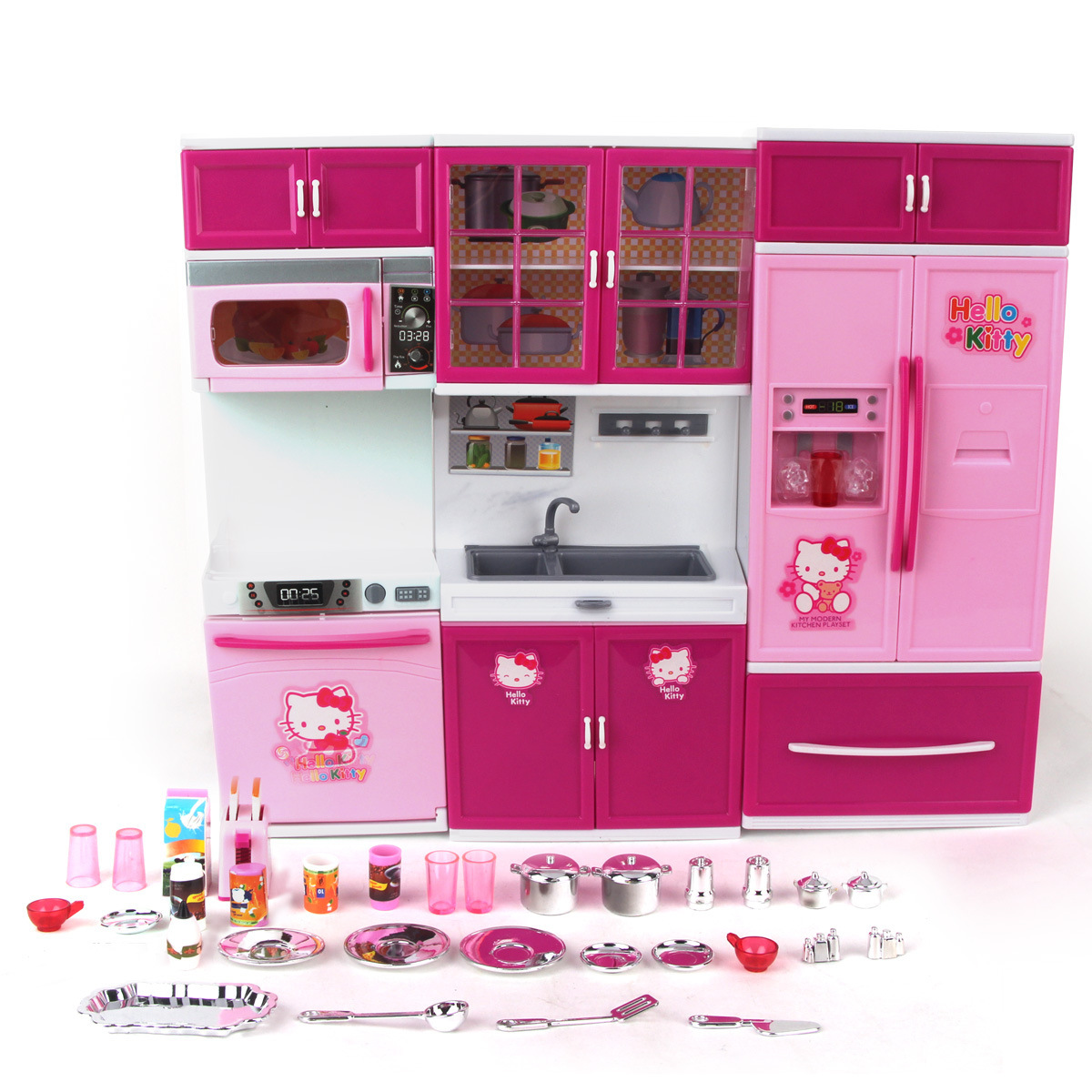 Popular hello kitty toy kitchen buy cheap hello kitty toy for Best kitchen set for 4 year old