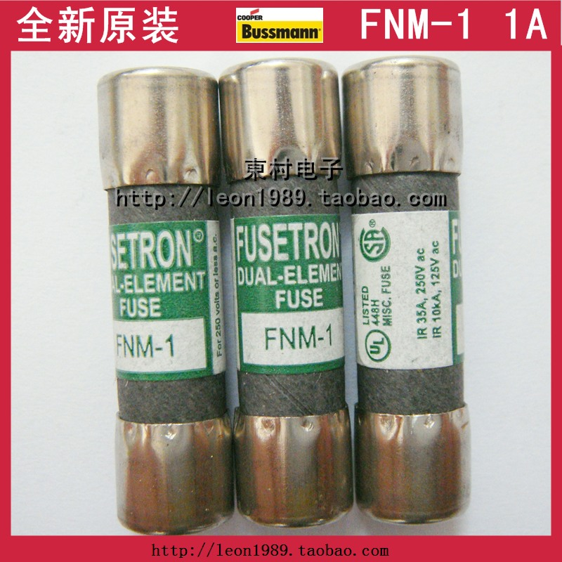 United States Cooper Bussmann fuse fuse FUSETRON FNM-1 1A 250V<br><br>Aliexpress