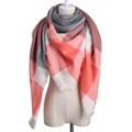 2016 ZA Spain Fashion Brand Women Plaid Cashmere Scarf Shawl Soft Acrylic Winter Scarves