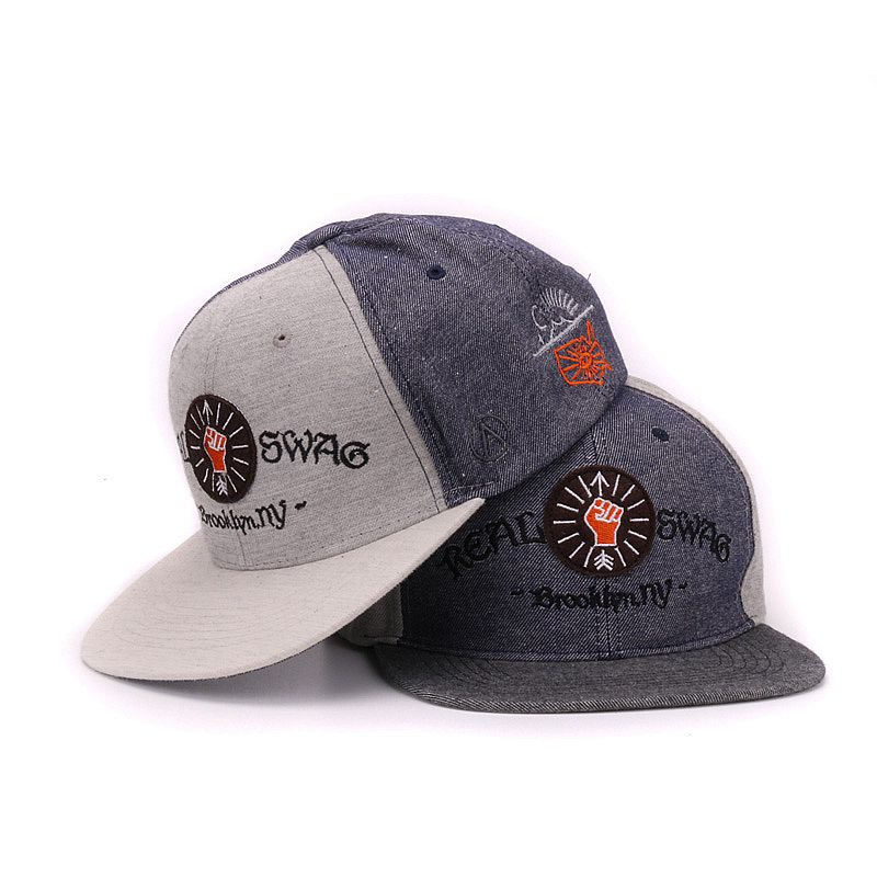Jeans snapback embroidery patch good quality mens flat bill baseball caps hip hop hat and cap for men and women(China (Mainland))