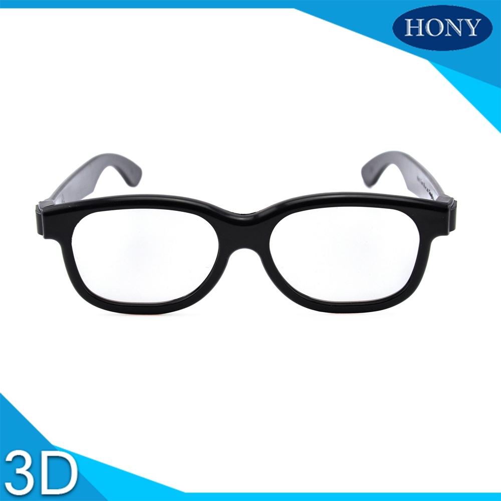 Hot popular plastic circular polarized 3D glasses 3D polarized glasses for theater/movie/film PL0001CP black frame(China (Mainland))