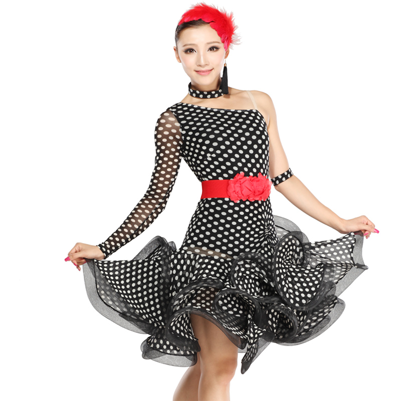 Latin dance clothing Latin dance skirt new square dance Latin dance performance clothing clothing wave HB209