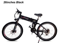 Free shipping fashion 26 inch fold mountain speed lithium battery charging general bike black white(China (Mainland))