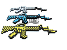 Newest 2015 Minecraft Toys Minecraft Sword Gun Plastic Model Toys EVA Minecraft Game Action Figures Children's Toys Gifts(China (Mainland))