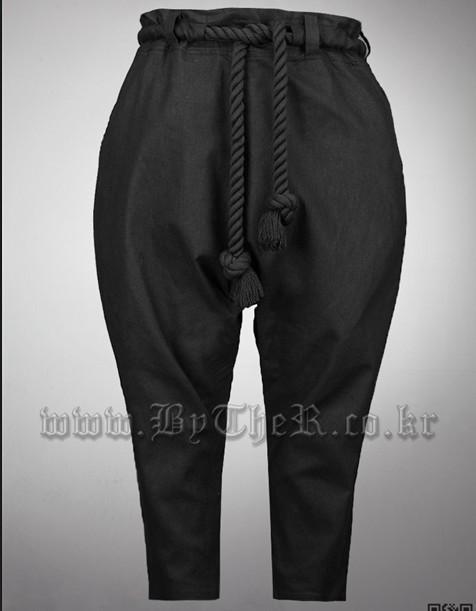 mens black linen pants - Pi Pants