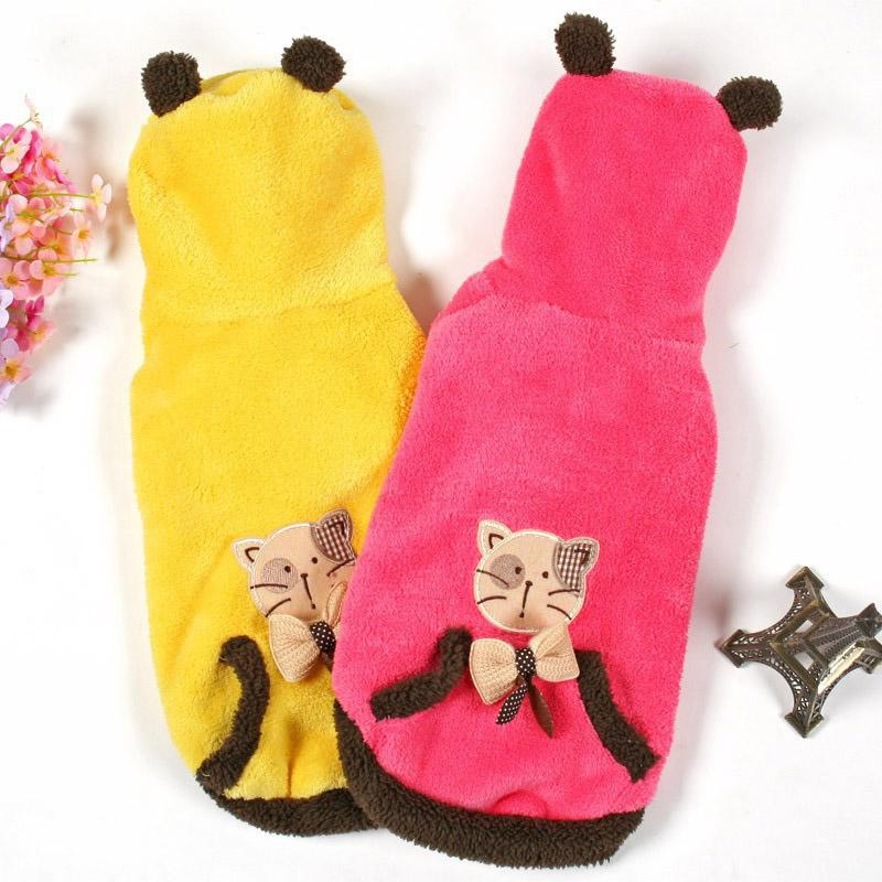 Say Hello To Your Pet Kitty Winter Thick Brand Cats Coats Lovely Softy Warmy Cats Clothes Linty Clothing For Cats(China (Mainland))