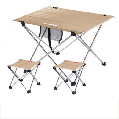 POINT BREAK NH15Z012-S7 Outdoor Folding Tables And Chairs Khaki Small Table 2*folding Chair Outdoor Table Fishing Leisure Chairs(China (Mainland))