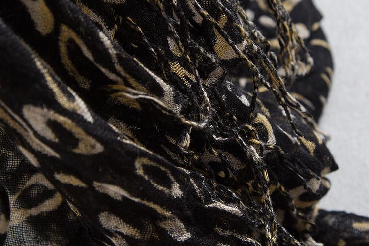 Hot Sale Silk Scarf Cashmere Chiffon Scarf Animal Print Super Star Style Leopard Shawl Brand Designer Scarves and Stoles Scarf(China (Mainland))