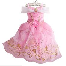 2018 בנות קיץ שמלת ילדים Cindrella שלג לבן קוספליי תלבושות תינוקת נסיכת שמלת רפונזל אורורה Belle שמלת Vestidos(China)