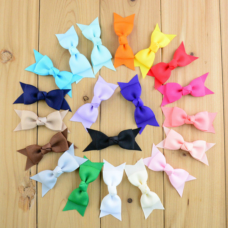 "3"" Mini Grosgrain Ribbon Hair Bows Pinwheel Cheer Bows for Kids Grament Accessories Headband 30pcs/lot Free Shipping HDJ19(China (Mainland))"