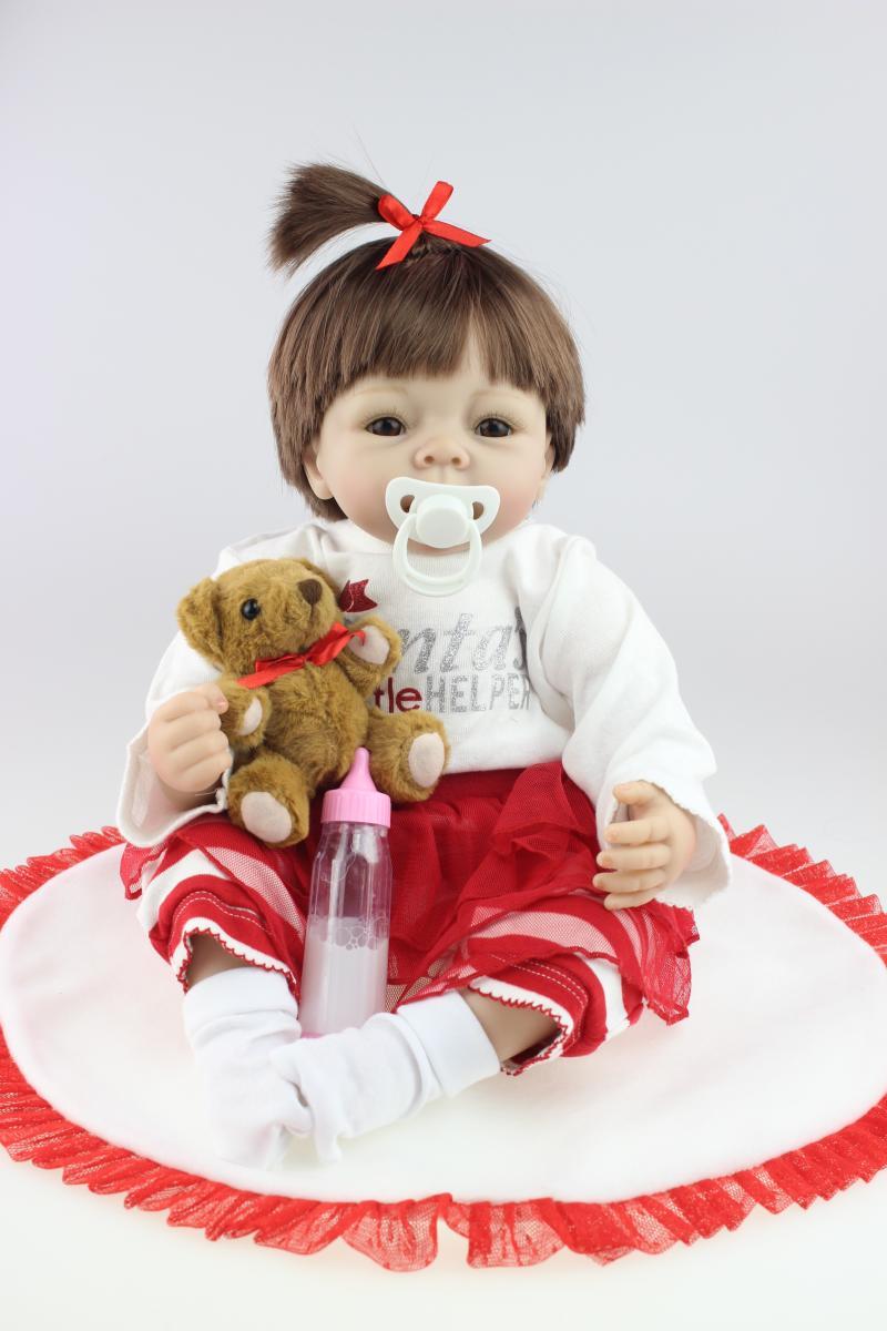 Christmas Birthday holiday gift Very cute 22 inch 55cm lifelike silicone bornbaby  reborn baby boy girl dolls doll YU87423<br>