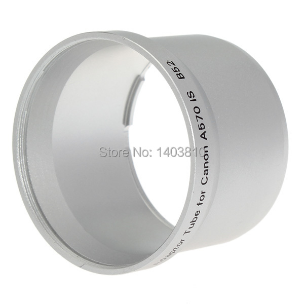 52mm Digital Camera Lenses Adapter Tube Ring for Canon A570 IS B52 Lens 52 mm Hood Cap and UV CPL Filter Adaptor + Track No.(China (Mainland))