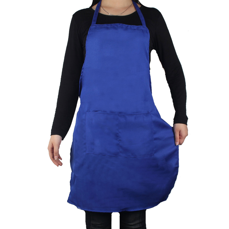 Blue Women kitchen Apron Waiter Aprons With Pockets Restaurant Kitchen Cooking Apron Custom Printable logo 329on sale send gift(China (Mainland))