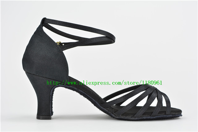 selling adult women's black satin 6.5 points with Latin dancing shoes CL21 practise shoes shoes square dancing shoes