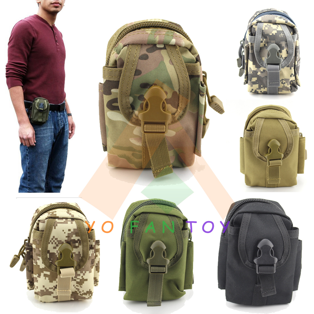 EDC MOLLE PALS Waistpack Tactical Military Waist Bag Multi-function Hiking Outdoor Belt Pocket Pouch Mobile Pack - Yofantoy Int'l Trade Limited store