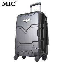 "20 "" 24 "" pulgadas Batman equipaje de embarque, ruedas universales carro, bloqueo de contraseña maleta, moda ABS hard shell bolsa(China (Mainland))"